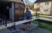 brigáda montáž lavek 2018